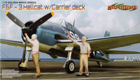 Grumman F6F Hellcat with Carrier Deck Section 1/72