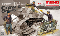 French FT-17 Light Tank Crew & Orderly 1/35