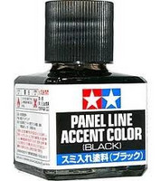 Panel Line Accent Color Black