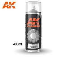 Semi-Gloss Varnish Spray 400ml (Mukana kaksi suutinta)