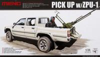 Pick Up Truck (Toyota Hi-Lux) with ZPU-1 AA-Gun 1/35