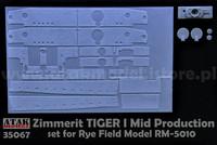 Zimmerit Tiger I Mid Prod. (Rye Field Model Kit) 1/35