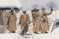 German infantry in Wachtmantel (Leningrad 1942) 1/35
