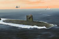 Le Triomphant SSBN French Navy Submarine