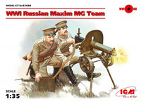 WWI Russian Maxim Machine Gun Team 1/35