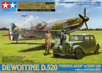 """Dewointine D.520 """"French Aces"""" with Citroen Staff Car 1/48"""