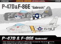 """P-47D & F-86E """"Gabreski"""" 1/72"""