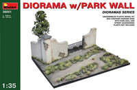Diorama with Park Wall 1/35
