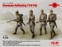 German Infantry 1914 (4 Figures) 1/35