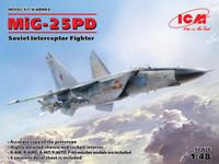 Mikoyan MiG-25PD Soviet Interceptor Fighter 1/48