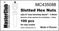 "Slotted Hex Nuts, Size S ""on A Turn-Key basis"" - 1.6mm"