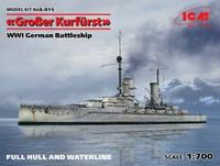 Grober Kurfurst German WWI Battleship (Full Hull & Waterline) 1/350