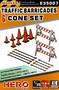 Traffic Barricades & Cone Set 1/35