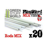 Plastic Profiles Rods Mix 20kpl