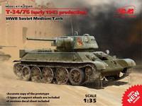 Russian T-34/76 (early 1943 production), WWII Soviet Medium Tank 1/35