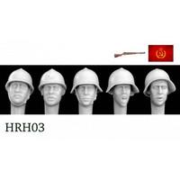 5 Heads Soviet Early WW2 Helmets 1/35