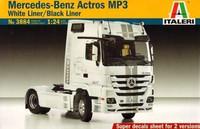 Mercedes Benz Actros 1851 White Liner/Black Liner 1/24
