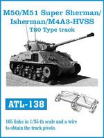 M/50 M/51 Super Sherman / Isherman / M4A3 -HVSS T-80 Type track 1/35