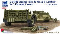 British 25Pdr Ammo & Limber Set 1/35