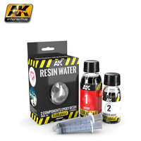 Resin Water 2-Componet Epoxy Resin 180ml (Enamel)