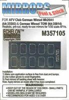 German Wiesel Mk20A1 & TOW Mirrors (AFV Club) 1/35