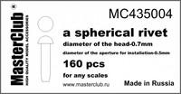 spherical rivet head diameter 0.7mm