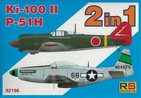 Kawasaki Ki-100-II & North American P-51H Mustang 1/72
