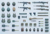 German infantry equipment set late WWII 1/35