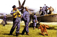 RAF Pilots & Ground Personnel 1/48