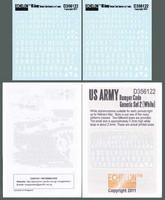 US ARMY Bumper Code Generic Set 2 (White) 1/35