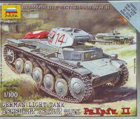 PzKpfw II German Light Tank 1/100
