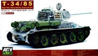 T34/85 transparent hull and turret 1/35