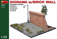 Diorama with Brick Wall 1/35