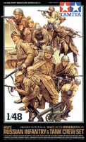 Russian Infantry and Tank Crew Set 1/48
