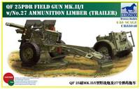 QF 25pdr Field Gun Mk. II/I 1/35