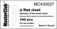 flat rivet, diameter 1.0mm-