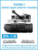 Tiger I Initial Type Mirror Tracks 1/35