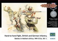Hand-to-hand fight British and German infantry in North Africa Kit 1 1/35