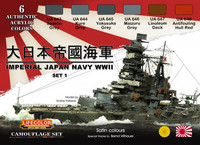 Imperial Japan Navy WWII Colors, set 1