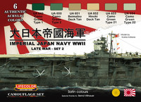 Imperial Japan Navy WWII Colors, set 2