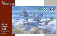 De Havilland Vampire FB Mk.52 Over Northen Sky (Suomalaiset tunnukset) 1/72