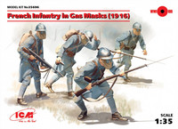 WWI French Infantry in Gas Masks 1/35