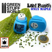 Leaf Punch Medium Blue (Three types of Maple)