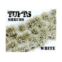 Shrubs Tufts 6mm White Green (Self Adhesive)