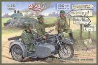 BMW R12 with sidecar (military version) 2 in 1 1/35