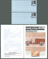 Field Fabricated Armor Plating Markings 1/35