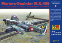 Morane-Sauliner M.S.406 French Fighter WWII 1/72