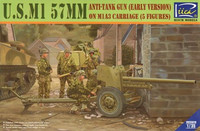 U.S. M1 57mm Anti-Tank Gun + 5 Figures 1/35