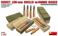 Soviet 100-mm shells with ammo boxes 1/35