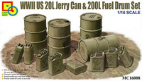 German WWII Jerry Can and Fuel Drum Set 1/16